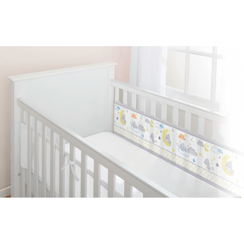 BreathableBaby Two-Sided Cot Liner Tiny Tatty Teddy – Over The Moon 1
