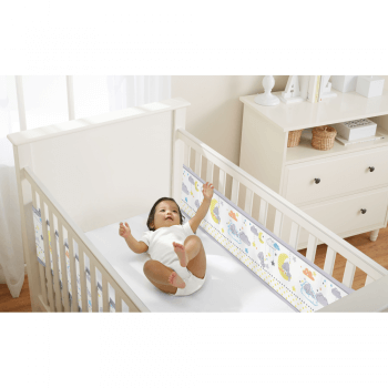 BreathableBaby Two-Sided Cot Liner Tiny Tatty Teddy – Over The Moon
