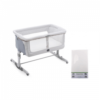 Chicco Next2Me Dream Side Sleeping Crib & Free Fitted Sheet - Delicacy