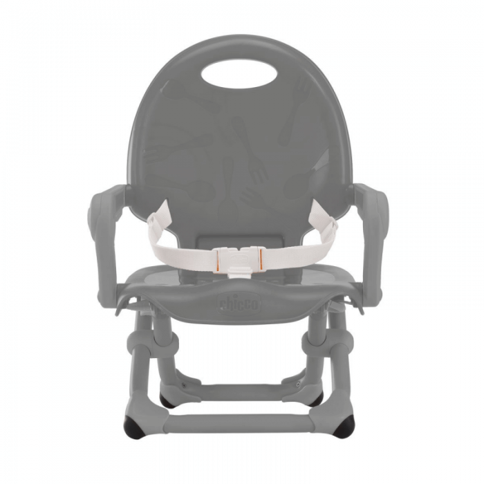 Chicco Pocket Snack Booster Seat Highchair - Dark Grey Front