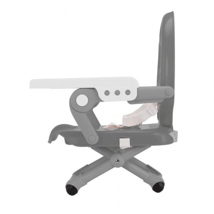 Chicco Pocket Snack Booster Seat Highchair - Dark Grey Side