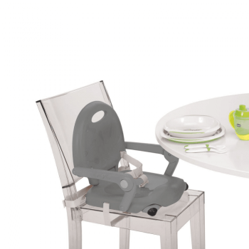 Chicco Pocket Snack Booster Seat Highchair - Dark Grey Table