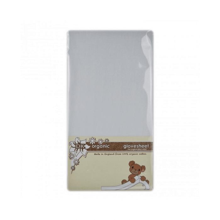 DK Glovesheets Organic Sheet For Large Travel Cot (105cmx75cm) - White