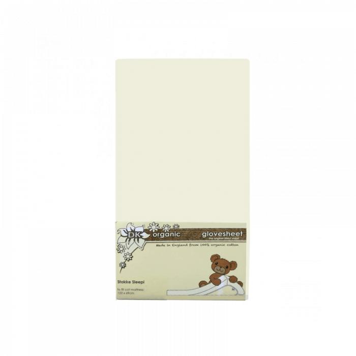 DK Glovesheets Stokke Sleepi Fitted Sheet - Cream 122x69cm