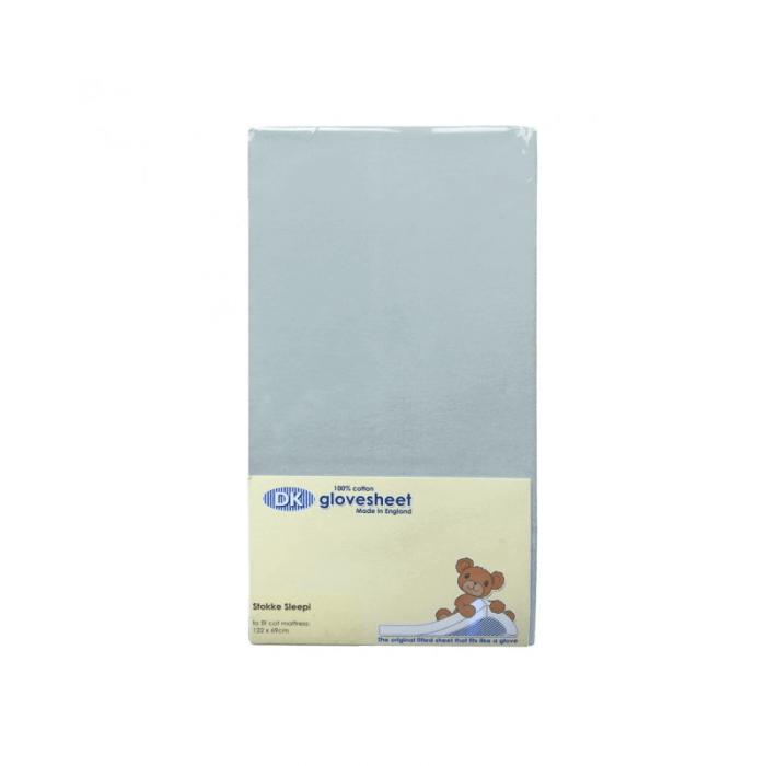 DK Glovesheets Stokke Sleepi Fitted Sheet - Light Blue 122x69cm