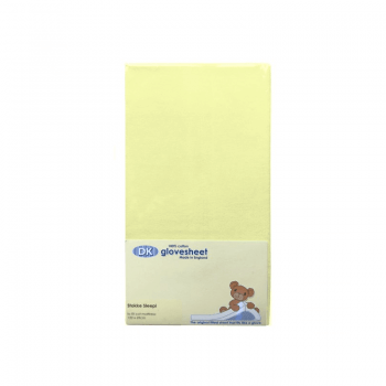 DK Glovesheets Stokke Sleepi Fitted Sheet - Yellow 122x69cm