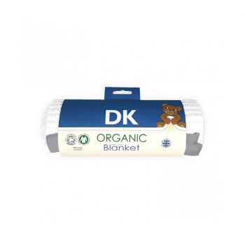 DK Glovesheets White Cotton Blanket With Grey Finish