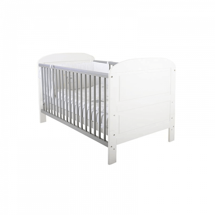 East Coast Angelina Cot Bed - White / Grey