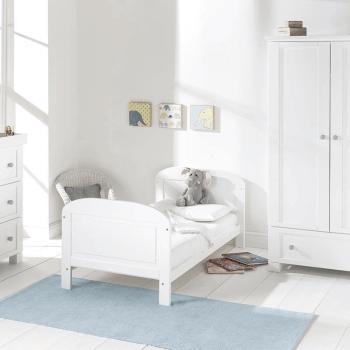 East Coast Angelina Cot Bed - White / Grey - Lifestyle 2