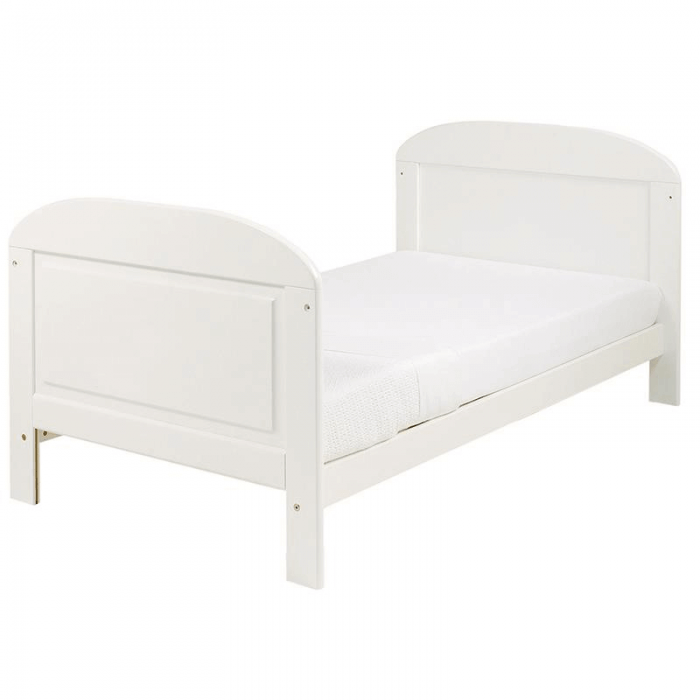 East Coast Angelina Cot Bed - White - Toddler Bed
