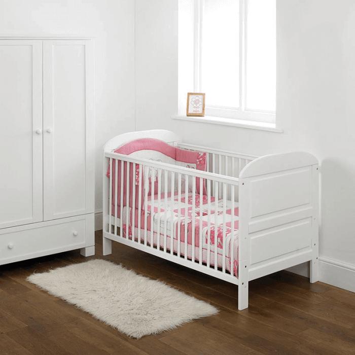 East Coast Angelina Cot Bed - White - Lifestyle