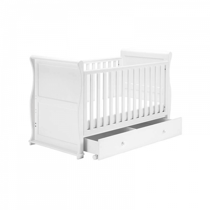 East Coast Alaska Sleigh Cot Bed - White