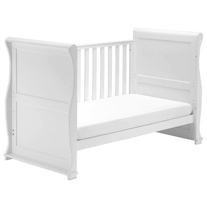 East Coast Alaska Sleigh Cot Bed - White - Day Bed