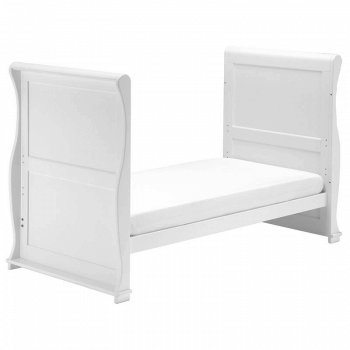 East Coast Alaska Sleigh Cot Bed - White - Junior Bed