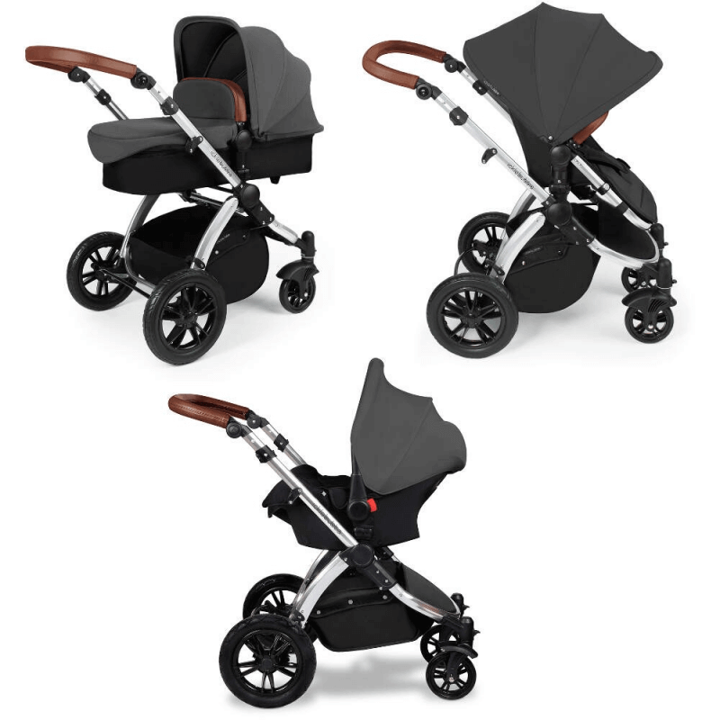 Ickle Bubba Stomp V2 3-in-1 Travel System - Graphite Grey / Silver