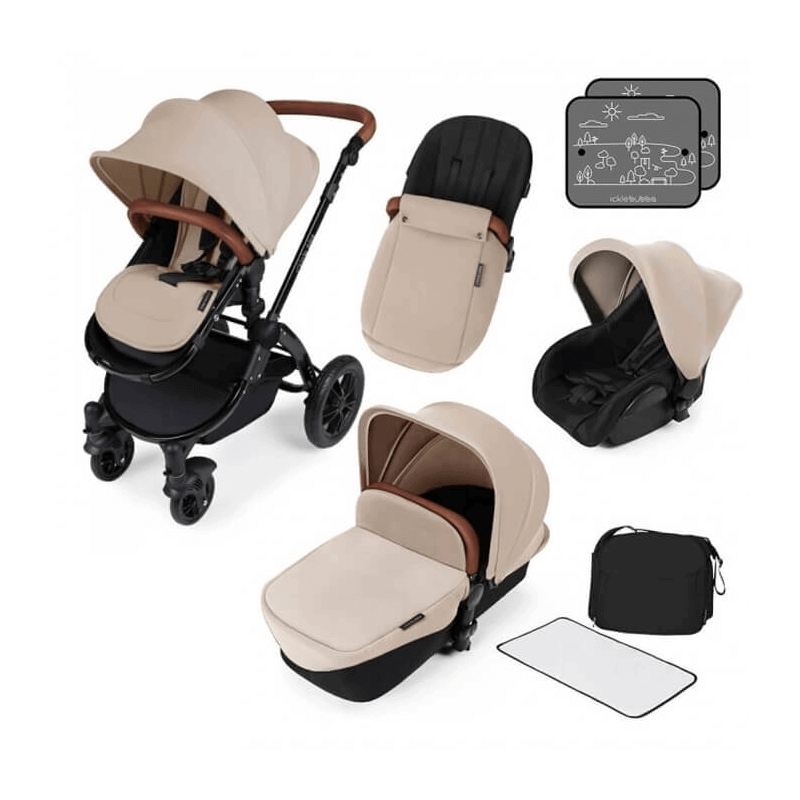 Ickle Bubba Stomp V2 All-In-One Travel System - Sand / Black