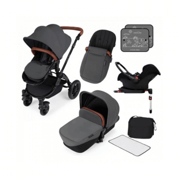Ickle Bubba Stomp V3 All-In-One Travel System & Isofix Base - Graphite Grey / Black