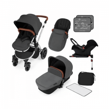 Ickle Bubba Stomp V3 All-In-One Travel System & Isofix Base - Graphite Grey / Silver