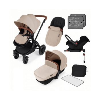 Ickle Bubba Stomp V3 All-In-One Travel System & Isofix Base - Sand / Black