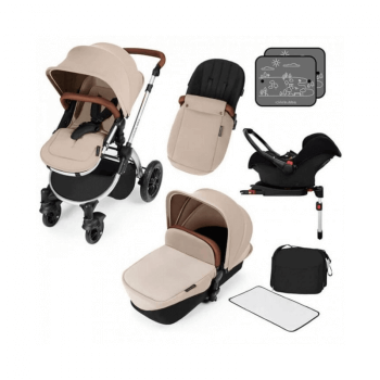 Ickle Bubba Stomp V3 All-In-One Travel System & Isofix Base - Sand / Silver