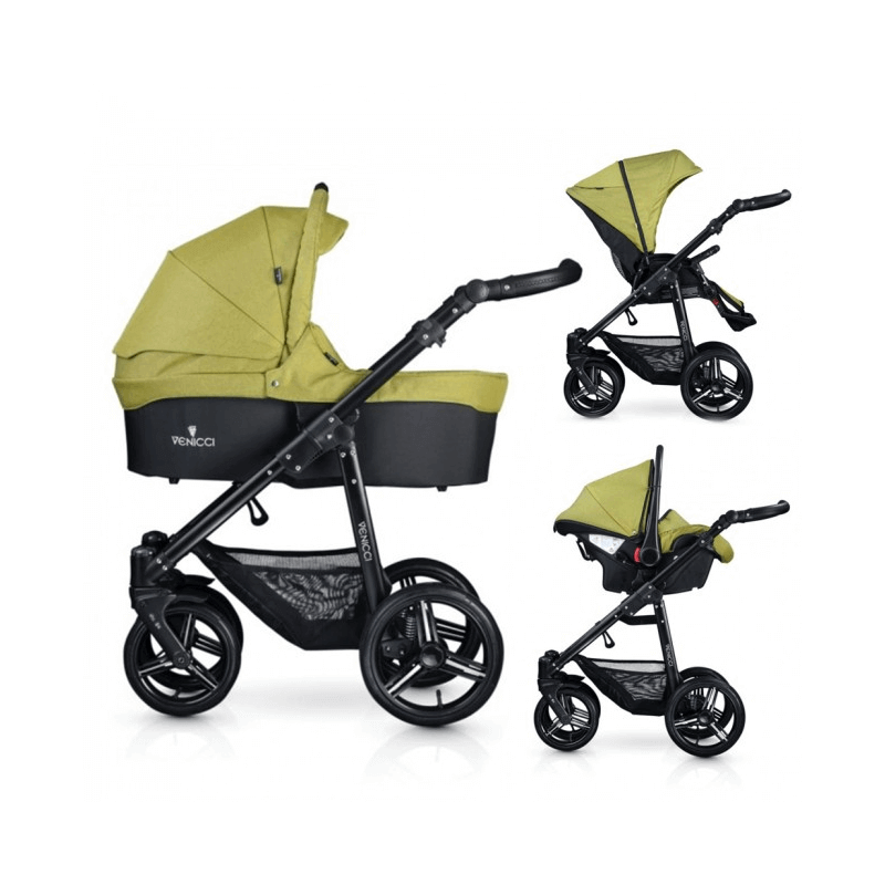 Compare retail prices of Venicci Soft 3-in-1 Travel System - Denim Green / Black to get the best deal online