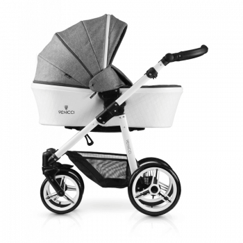 Venicci Pure 3-in-1 Travel System - Denim Grey - Carrycot