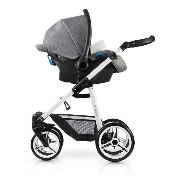 Venicci Pure 3-in-1 Travel System - Denim Grey - Car Seat