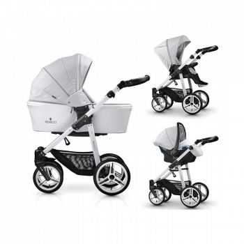 Venicci Pure 3-in-1 Travel System - Stone Grey
