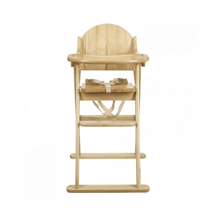 East Coast All Wood Folding Highchair Front