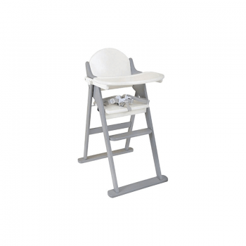 East Coast Folding Highchair White and Grey 2