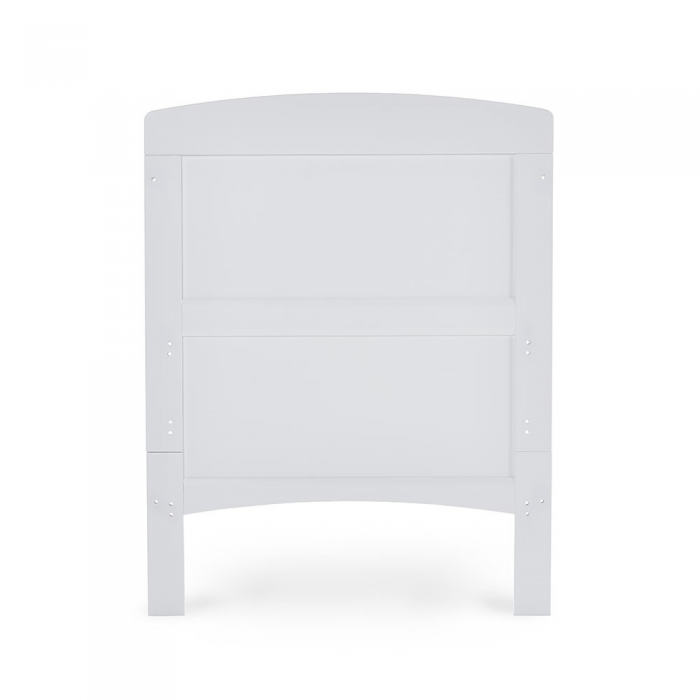 Grace Cot Bed- White- Cot End View