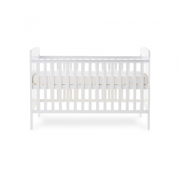 Grace Cot Bed- White- Side Image Highest Level