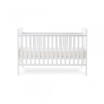 Grace Cot Bed- White- Side Image Mid Level