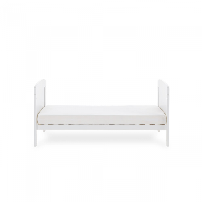 Grace Cot Bed- White- Toddler Bed- Side View