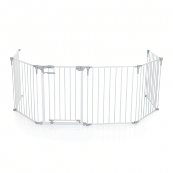 Hauck Babypark, 6 Sided Playpen with Playmat - White Open
