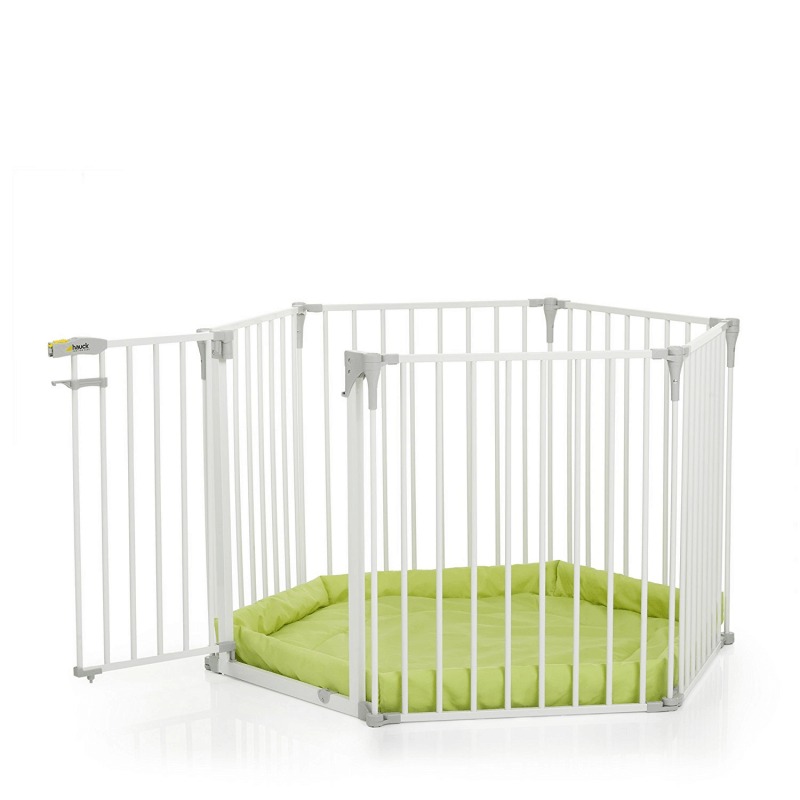 Hauck Babypark, 6 Sided Playpen with Playmat - White