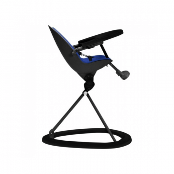 Ickle Bubba Orb Highchair - Blue on Black Frame Recline