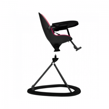 Ickle Bubba Orb Highchair - Pink on Black Frame 360