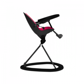 Ickle Bubba Orb Highchair - Pink on Black Frame Recline