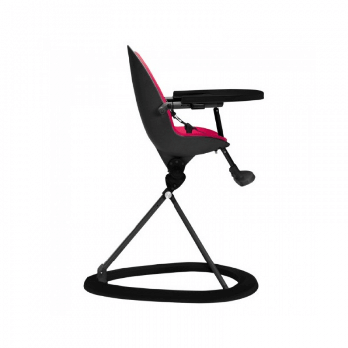 Ickle Bubba Orb Highchair - Pink on Black Frame Side