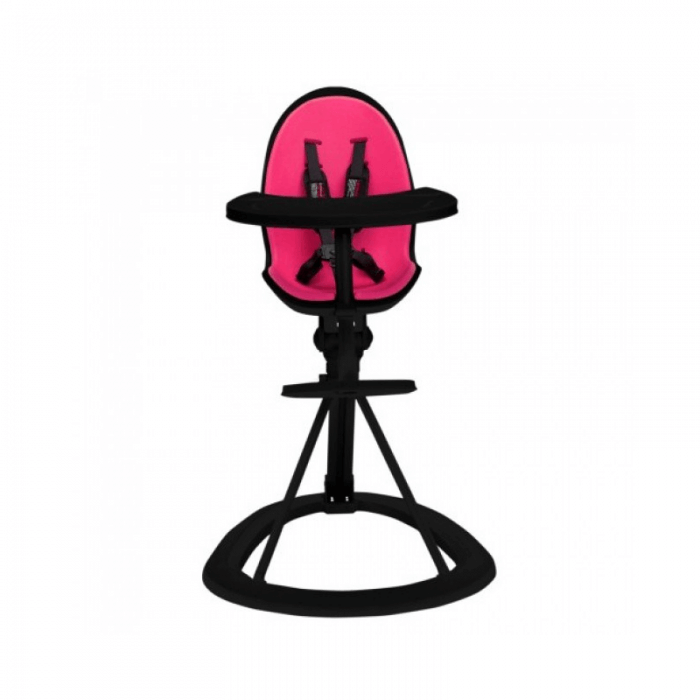 Ickle Bubba Orb Highchair - Pink on Black Frame front