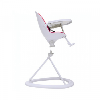 Ickle Bubba Orb Highchair - Pink on White Frame 360