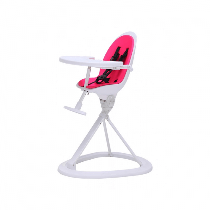 Ickle Bubba Orb Highchair - Pink on White Frame