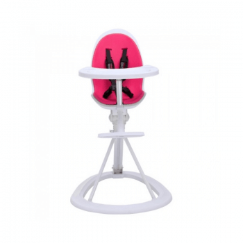 Ickle Bubba Orb Highchair - Pink on White Frame Front