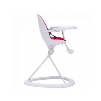Ickle Bubba Orb Highchair - Pink on White Frame Side