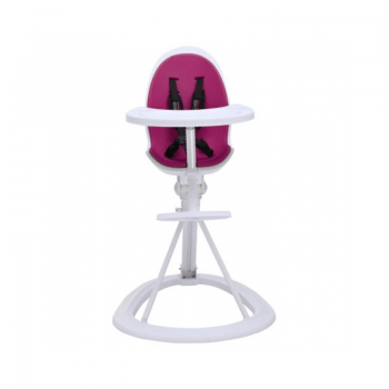 Ickle Bubba Orb Highchair - Purple on White Frame Front