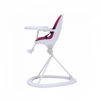 Ickle Bubba Orb Highchair - Purple on White Frame Side