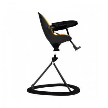 Ickle Bubba Orb Highchair - Yellow on Black Frame 360