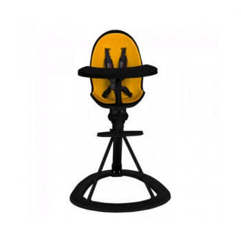 Ickle Bubba Orb Highchair - Yellow on Black Frame Front
