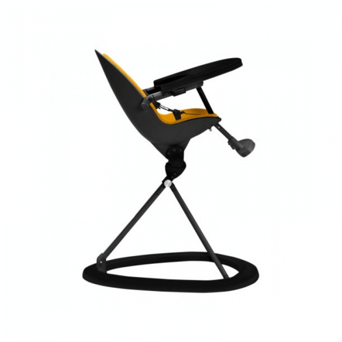Ickle Bubba Orb Highchair - Yellow on Black Frame Recline
